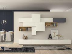 Módulo de arrumação de parede secional lacada SLIM 88 Coleção Slim by Dall'Agnese | design Imago Design, Massimo Rosa