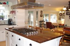 Best DIY countertop project ever! Walnut butcher block in an island. Remodel Phase 3 - The Kitchen