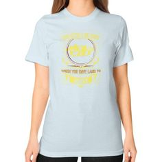 Hunting land Unisex T-Shirt (on woman)
