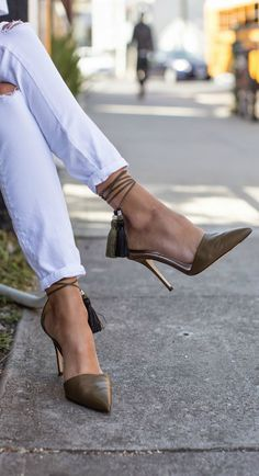 j crew tassel heels for spring!
