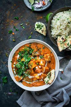 Paneer Makhani, Food And Drinks, Paneer Makhani Recipe - Binjal& VEG Kitchen. Onion Recipes, Veg Recipes, Curry Recipes, Indian Food Recipes, Vegetarian Recipes, Cooking Recipes, Ethnic Recipes, Indian Paneer Recipes, Makhani Recipes