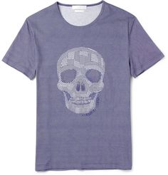 Alexander McQueenSkull Patchwork-Print Cotton-Jersey T-Shirt|MR PORTER