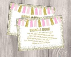 Pink and Gold Baby Shower Printable . Book by hellorosepaperie