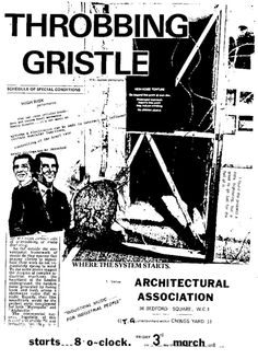 Throbbing Gristle / Architectural Association