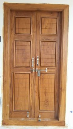 Door Wooden Double Doors, Wood Front Doors, Double Entry Doors, Modern Front Door, Wooden Doors, Double Door Design, Main Door Design, Front Door Design, Entrance Design