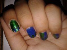 peacock nail art!!!!