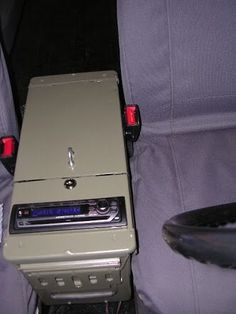 Ammo can console Cj Jeep, Jeep Mods, Truck Mods, Jeep Truck, Jeep Wrangler Accessories, Truck Accessories, 4x4, Karts, Ammo Cans