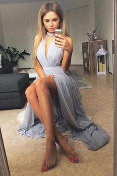 Sexy Prom Dress,High Slit Prom Dresses,Sexy Evening Dress,Long