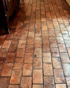 Rustic Italian Home – La Bella Vita Wood Block Flooring, End Grain Flooring, Wood Blocks, Kitchen Flooring, Hardwood Floors, Brick Floor Kitchen, Flooring Ideas, Kitchen Wood, Parquet Flooring