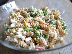 cremet pastasalat med kylling og bacon