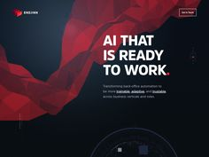 So here is a smaller part of Endjinn website, showing the overall look and feel. Endjinn is an AI and Automation R&D shop, building knowledge work automation agents. Office Automation, Web Design, Branding, Saint Charles, Show And Tell, User Interface, Knowledge, Things To Come, Website