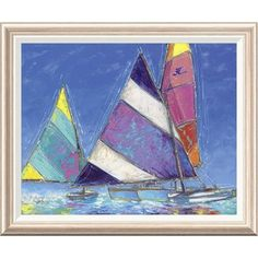 Global Gallery 'Saucy Sails' by Sambataro Framed Painting Print Size: