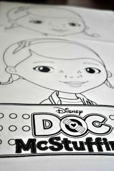 Doc mcstuffins coloring sheets, doc mcstuffins party ideas