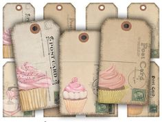 204-Cupcake,Vintage,Postcard,Tags,Digital,Collage,Sheet,Supplies,Scrapbooking,Digital_Collage_Sheet,digital_cupcakes,cupcake_tags,cupcake_download,digital_collage,digital_sheet,digital_download,cupcake_gift_tags,vintage_postcards,scrapbook_gift_tags,scrapbooking_tags,desserts,digital_desserts,cupcakes,digital Cupcake Gift, Download Digital, Collage Sheet, Cupcakes, Colorful Candy, Digital Collage, Vintage Paper, Vintage Prints, Cross Stitch Patterns