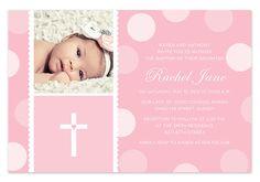 Pink Baby Girl Baptism / Christening Invitation with Photo auf Etsy… Christening Thank You Cards, Christening Invitations, Birthday Invitations, Invites, Invitation Layout, Baby Girl Baptism, Baptism Party, Baby Christening, Baptism Themes