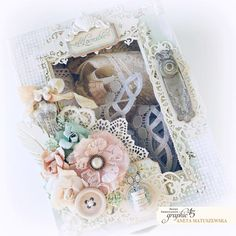 Hello, G45ers!It is time to wrap up another week in classic Graphic 45 style with the help of Brand Ambassador Aneta Matuszewska. Today she is going to share her Shabby Chic Sewing Box - Lace Drawer featuringourBaby 2 Bride - Deluxe Collector's Edition andMatchbook Box. This project is perfect