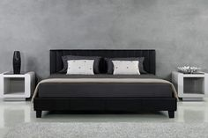 The Ovela Faux Leather Queen Size Bed Frame combines elegant, Italian-inspired design with high quality construction to give your bedroom long lasting style.
