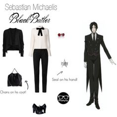 Sebastian Michaelis - Black Butler by closplaying Anime Inspired Outfits, Character Inspired Outfits, Themed Outfits, Casual Cosplay, Cosplay Outfits, Anime Outfits, Cosplay Ideas, Fandom Fashion, Fashion Tv