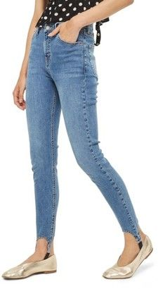 Shop Now - >  https://api.shopstyle.com/action/apiVisitRetailer?id=661453896&pid=uid6996-25233114-59 Women's Topshop Jamie High Rise Skinny Stirrup Jeans  ...
