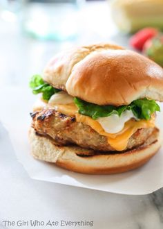 Cheddar Chicken Ranch Burgers   The Girl Who Ate Everything