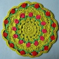 Crochet Mandala Wheel made by  Ria, Netherlands, for  yarndale.co.uk