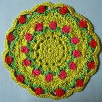 Crochet Mandala Wheel made by  Ria, Netherlands, for  yarndale.co.uk