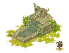 Fontaine / Fountain - Dofus - Wakfu ... WIP (2) by ~Weequays on deviantART