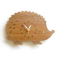 Modern Hedgehog Wall Clock