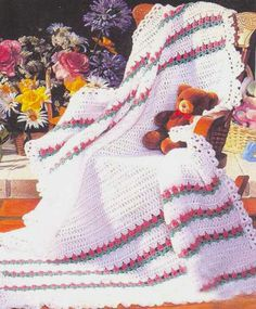 Maggie's Crochet · Bundle of Love Afghan Pattern #crochet #afghan #pattern #stripes #elegant #baby