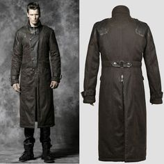 Gothic duster coat made from genuine leather, inspired by the ...