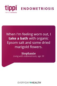 Dealing with an #endo flare-up? Try this Epsom salt tip for pain relief! #endometriosis