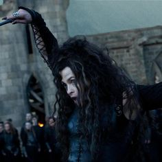 "Helena Bonham Carter as Bellatrix Lestrange in ""Harry Potter and the Deathly Hallows: Part 2011 Deathly Hallows Part 2, Harry Potter Deathly Hallows, Harry Potter Love, Harry Potter World, Bellatrix Lestrange, Lestrange Harry Potter, Helena Bonham Carter, Albus Dumbledore, Hermione Granger"