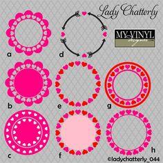 DIGITAL DOWNLOAD ... Valentine vectors in AI, EPS, GSD, & SVG formats @ My Vinyl Designer #myvinyldesigner #ladychatterly
