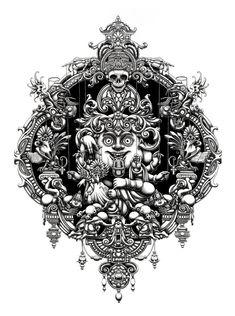Joe Fenton. Ilustraciones monocromáticas en estado puro | OLDSKULL.NET