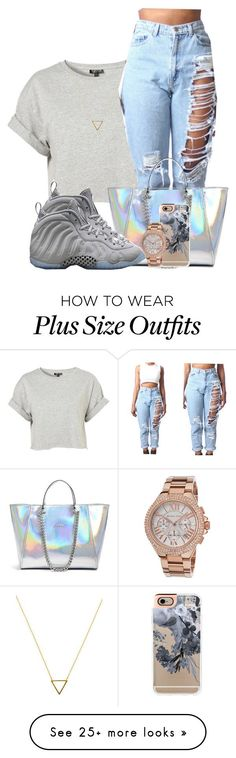 """""""pull up on a kid """" by chiamaka-ikaraoha on Polyvore featuring Topshop, Wanderlust + Co, GUESS, Casetify, Michael Kors, NIKE, women's clothing, women's fashion, women and female"""