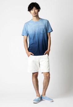ムライトテンジクホンアイグラデーション ポケットTシャツ | == BLUE BLUE(ブルーブルー)オンラインショップ == BLUE BLUE