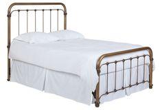Alyssa Steel Panel Bed, Brass | Rest Easy | One Kings Lane