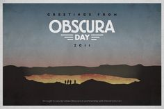 Obscura Day Postcard