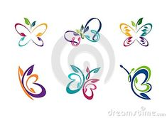 Butterfly logotype, set of collection abstract butterflies symbol icon vector design - http://www.dreamstime.com/stock-photography-image66601067#res7049373