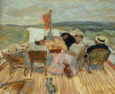 Pierre Bonnard, Sur le yacht on ArtStack #pierre-bonnard #art