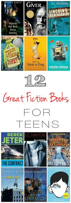 12 Great Fiction Books for Teens | Home & Plate | www.homeandplate.com