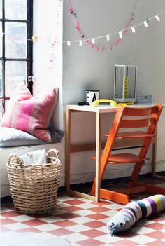 Tripp Trapp Lava Orange-54 Minis, Chair Cushions, Decoration, Kids Rugs, Interior Design, Lava, Moon, Furniture, Orange