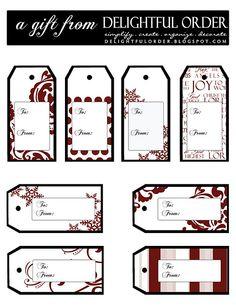 Free Christmas Tag Printable