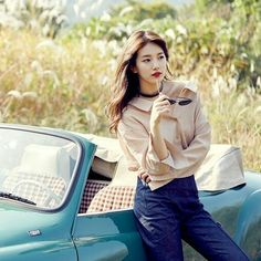 Ecsuzy Bae Suzy, Korean Actresses, Korean Actors, Beautiful Asian Girls, Most Beautiful Women, Miss A Suzy, Korean Model, Korean Singer, Cute Poses