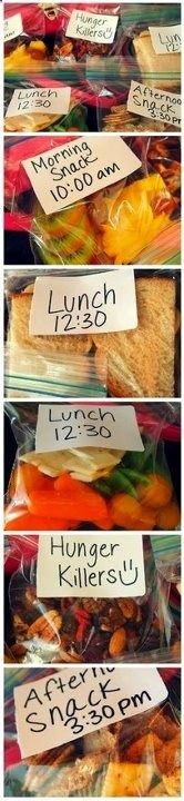 Portion control packing ideas! (good idea for packing mini-meals...sub GP friendly options) .