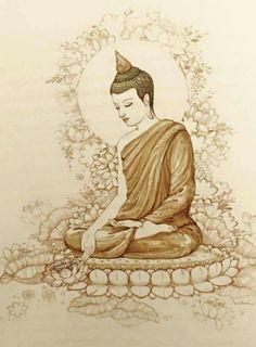 """Do not wait for the last judgment. Lotus Buddha, Art Buddha, Buddha Artwork, Buddha Drawing, Buddha Painting, Gautama Buddha, Buddha Buddhism, Buddhist Art, Gautam Buddha Image"