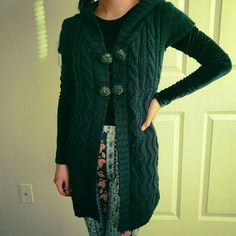 Lovely short sleeves Cardigan Black color. Hoodie attached cardigan. Two lovely buttons included at front. Sweaters Cardigans