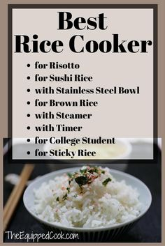 A Rice Cooker makes a great gift for a mom that cooks. Everyone needs a Rice Cooker. Find the Best Rice Cooker for risotto, for sushi, or for a college student etc. Get perfect rice every time. Best Rice Cooker, Rice Cooker Recipes, Cooking Whole Chicken, Cooking Turkey, Ways To Eat Healthy, Eating Healthy, Healthy Food, Cooking Games For Kids, Pro Cook