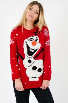 This adorable Olaf jumper