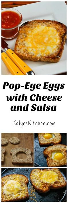 Pop-Eye Eggs with Cheese and Salsa are my healthier version of something my mom used to make. Did your mother make these kind of eggs? [found on KalynsKitchen.com]